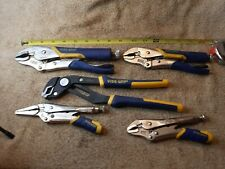 Irwin Vise Grip Lot of (5) Groovelock Straight Jaw Pliers end vise grips