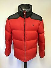 POLO BY RALPH LAUREN BLACK & RED DOWN FILLED PADDED JACKET SIZE M