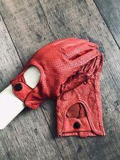 Guantes de ciclismo de Cuero Rojo Con Corte