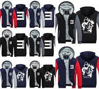 EMINEM Hoodie Winter Zipper Coat Fleece Unisex Thicken Jacket Sweatshirts