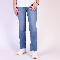 Levi's 505 Gerade Blau Damen Jeans DE 34 / US W27 L30