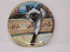 "Franklin Mint ""Blue Eyes"" Siamese Cat Plate by Daphne Baxter"