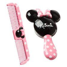 Peine Y Cepillo Para Niñas Cerdas Suaves Cabello Húmedo Seco Minnie De Disney