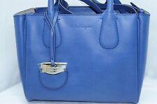 New Salvatore Ferragamo Nolita Bag Blue Women's Satchel Iris Handbag Leather