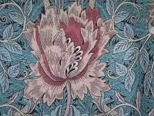 WILLIAM MORRIS CURTAIN FABRIC Honeysuckle & Tulip 150 CM X 98  PRIVET/HONEYCOMBE