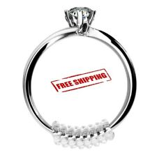 15 Pcs Ring Size Adjuster Invisible Clear Ring Sizer Jewelry Fit Reducer Guard