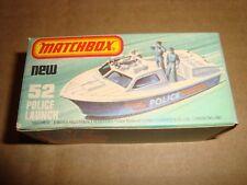 MATCHBOX 75 SUPERFAST NEW 52 POLICE LAUNCH MATCHBOX 1976