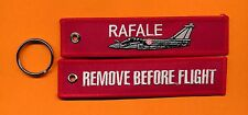 Rafale Remove Before Flight Embroidered Aviation keyring/fob/luggage tag - New