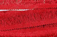 """Metallic Red 2"""", Chainette  Fringe- By The Yard"""