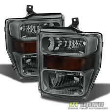 Smoked 2008 2009 2010 Ford F250 F350 F450 Superduty Headlights Headlamps 08-10