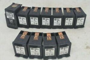 8x 302xl HP, 2x 62xl, 1x Canon 540 empty ink cartridges never been refilled.