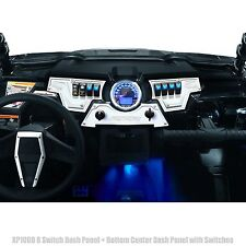 RZR XP1000 UTV 8 Switch 3 Piece Dash Panel with 6 Switches White Powdercoated