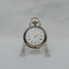 Ladies small Silver Antique Pocket Watch .  Circa 1900. Working.