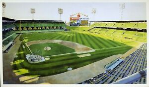 COMISKEY PARK REVISITED by Robert Wieferich BILL GOFF Postcard 1993