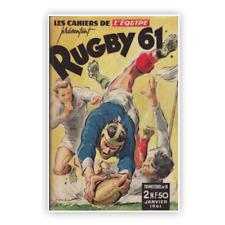 Affiche Poster Rugby vintage 1961 XV de France 50cmX70cm livraison offerte