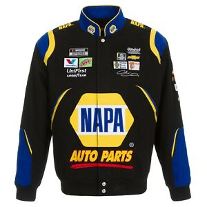 2020 Chase Elliott JH Design Black Royal Napa  Cotton  Twill Jacket new