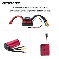 GoolRC S3670 2850KV Sensorless Motor 120A ESC Program Card for 1/8 RC Car V3N5