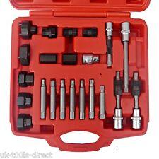 22pcs alternateur embrayage à roue libre poulie réparation retrait installateur fix set kit
