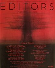 Editors 2007 Advert Uk Concert Tour mini poster