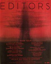 Editors 2007 Advert Uk Concert Tour mini poster