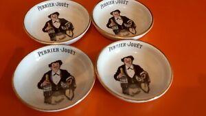 Champagne Perrier-Jouët - 4 Cendriers/ Coupelles - Rare 4 Perrier Jouët ashtrays