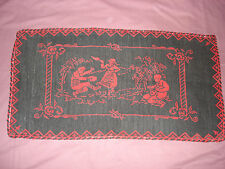 #616  Beautiful Vintage Hand Embroidered Tapestry  87cm/47cm(34''/18.5'')