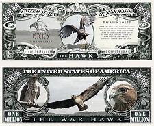 Le FAUCON - BILLET 1 MILLION DOLLAR US ! Collection Animal Rapace épervier aigle