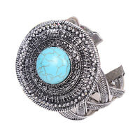 Tibetan silver jewelry handmade fashion turquoise bracelet Men's cuff bangle T64