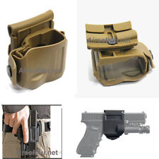 TAN-Rotates 360 Tactical Clip MOLLE / Belt Holster for G17,19,22,23
