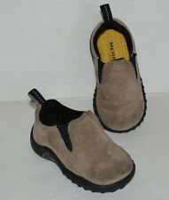 MERRELL JUNGLE MOC CLASSIC TAUPE LEATHER SLIP ON LOAFERS BABY BOYS SZ 4 *EUC*