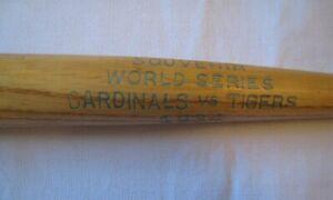 1934 World Series Souvenir Mini Bat St. Louis Cardinals vs. Detroit Tigers