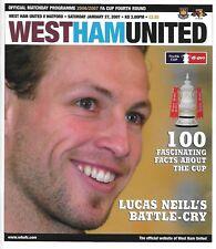 Football Programme>WEST HAM UNITED v WATFORD Jan 2007 FAC