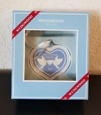 Wedgwood Blue Jasperware First Christmas Together Ornament 2017 Heart $50 New