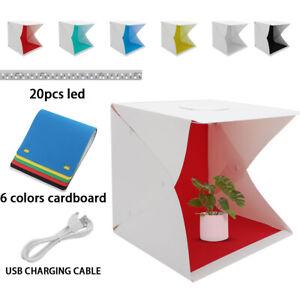 Mini Photo Studio LED Lighting Box Photography Backdrop Portable Light Room Tent