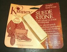 Vtg KINNEY SUEDE STONE Dry Chemical Cleaning Bar New Old Stock Original Package
