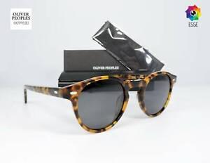 "Oliver Peoples ""Gregory Peck"" OV5186 Tortoise Frame Grey Polarized Sunglasses 47"