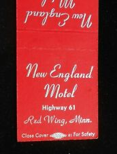 1950s New England Motel Phone 3311 Highway 61 Red Wing MN Goodhue Co Matchbook