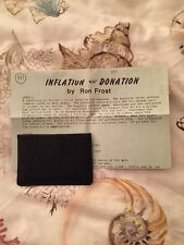 Inflation Donation By Ron Frost - Card And Money Magic - Rare