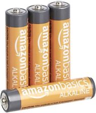 BULK PACK BOX of 4 AAA 1.5 VOLT PERFORMANCE ALKALINE BATTERIES for TOYS REMOTE