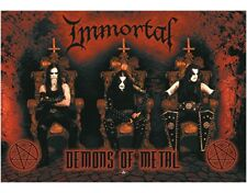 IMMORTAL - DEMONS OF METAL - FABRIC POSTER - 30x40 WALL HANGING - HFL0638