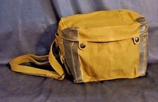 """MILITARY CANVAS BAG VIETNAM CHINESE SURPLUS W/ STRAP 8"""" X 6"""" X 5""""  Army Pouch"""