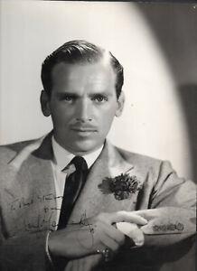 DOUGLAS FAIRBANKS JR. 11X14 SIGNED PORTRAIT PHOTO. A beauty. Fine autograph.