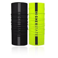 Higher State Unisex Reflective Neck Gaiter 2 Pack Black Yellow Sports Running