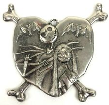 The Nightmare Before Christmas Jack Skellington Sally Lovers Necklace Pendant