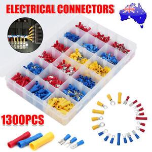 1300Pcs Insulated Electrical Wire Crimp Terminals Auto Car Spades Connectors Kit