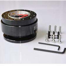 Universal Steering Wheel Quick Release Hub Adapter Snap Off Boss Kit Black