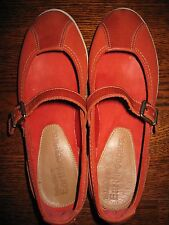 Womens Timberland Orange Suede Leather Mary Jane Comfort Flat Shoes 6 W