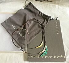 RETIRED SILPADA CAYMAN ADJUSTABLE NECKLACE 3 CORD SILVER & BRASS NEW FREE S/H