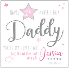 Personalised 1ST FIRST FATHER'S FATHERS DAY card