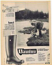 PUBLICITE ADVERTISING 114 1962 BAUDOU bottes brodequins tennis chaussures